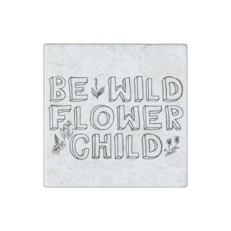 Flower Child Stone Magnet