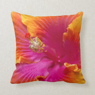 Flower - Chinese Hibiscus - Appreciation Throw Pillow