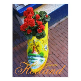 Flower Clog Greetings from Holland Postcard
