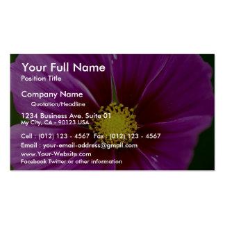 Flower, close-up business card template