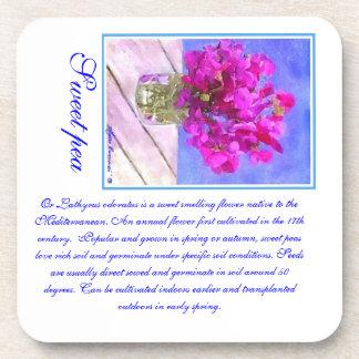 flower coaster or sweet pea coaster
