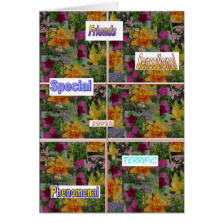 Flower collage card of encouragement