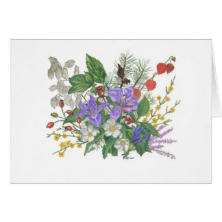 Flower Collection Card