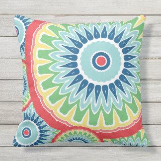 Flower Color Pop Mandala Design Cushion