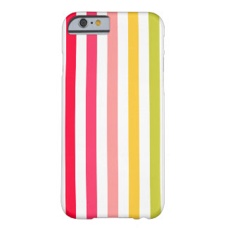 Flower-colored Stripes Barely There iPhone 6 Case