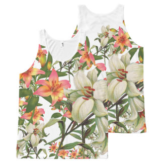 flower combo 300 All-Over print singlet