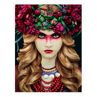 Flower Crown Postcard