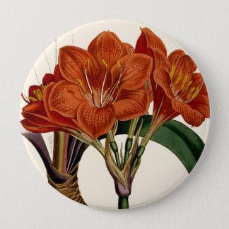 Flower Curtis Botanical Tote 10 Cm Round Badge