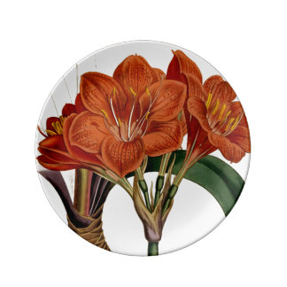 Flower Curtis Botanical Tote Plate