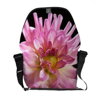 Flower Dahlia - Medium Messenger Bag Outside Print