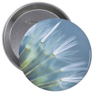 Flower Dandelion Seed Head 10 Cm Round Badge