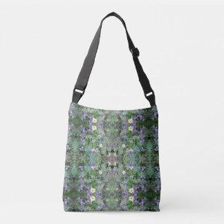 Flower Dapple Fractals Cross Body Tote Bag