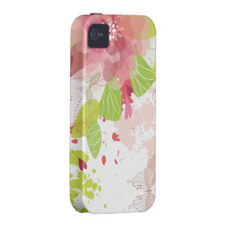 Flower Decor 16 Case-Mate Case iPhone 4 Covers
