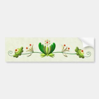 Flower Decor Bumper Sticker