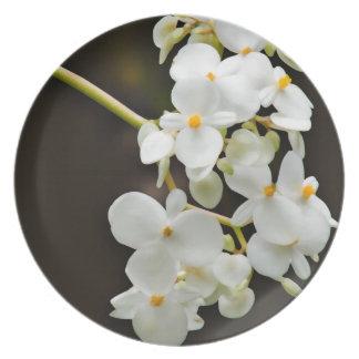 Flower decor plate