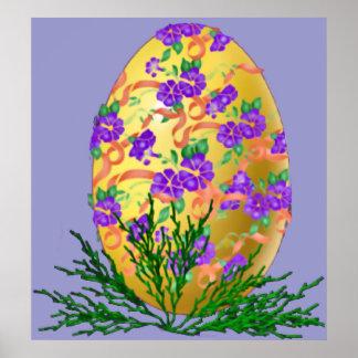 Flower Decorated Egg Print