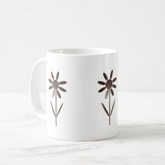 Flower decoration coffee mug