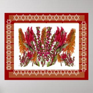 FLOWER Decorations : Boronia Lipstick Poker Torch Poster