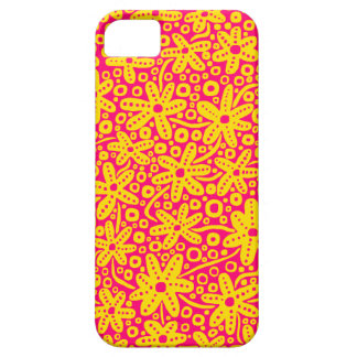 Flower Design - Amber and Rose Red.pdf iPhone 5 Case