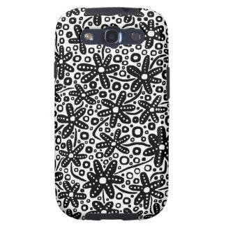 Flower Design - Black on White.pdf Galaxy S3 Cover
