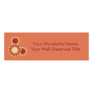 Flower Design Pack Of Skinny Business Cards