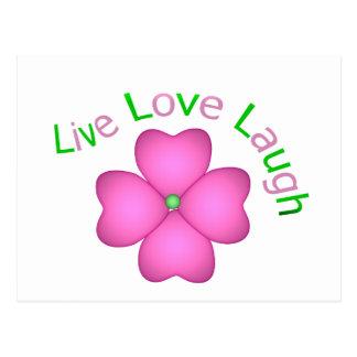 Flower Design - Live Love Laugh Postcard