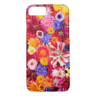 Flower design of Dalhia, Oriental Lilies, iPhone 7 Case