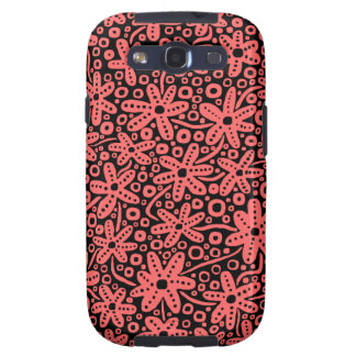 Flower Design - Tropical Pink on Black.pdf Samsung Galaxy S3 Cover