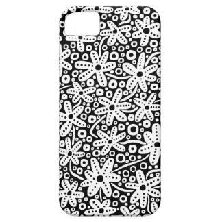 Flower Design - White on Black.pdf iPhone 5 Covers