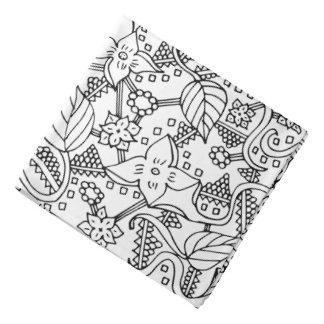 Flower doodle do-rag