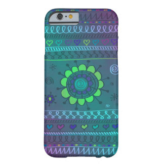 Flower Doodle Pattern Design Barely There iPhone 6 Case