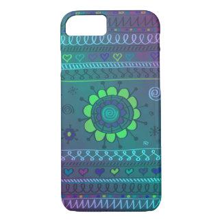 Flower Doodle Pattern Design iPhone 7 Case