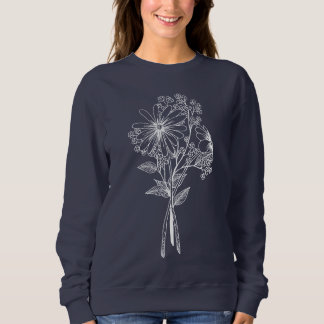 Flower doodle sweatshirt