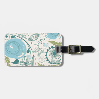 Flower Doodles Luggage Tag
