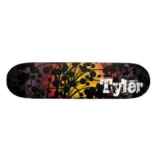 flower dots skate deck