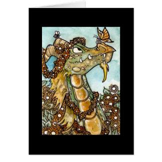 Flower Dragon Notecard
