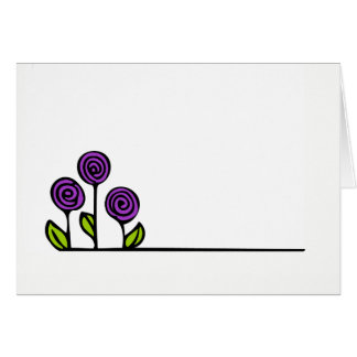 Flower Drawing Greeting Card - Blank Inside