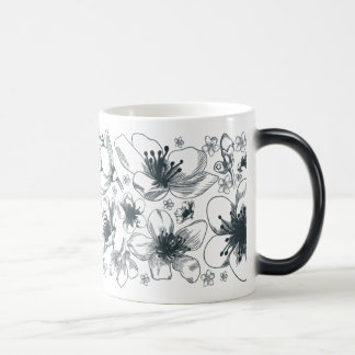 Flower Drawing on morphing mug