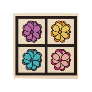 Flower Drawing Wood Print