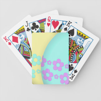 Flower Easter Egg Duo Bicycle Playing Cards
