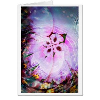 Flower eddy card