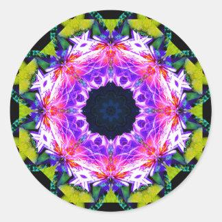 Flower Effect Mandala Classic Round Sticker