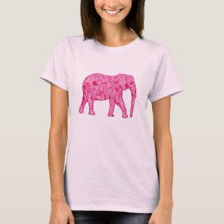 Flower elephant - fuchsia pink T-Shirt