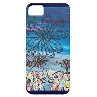 Flower Elephants iPhone Case