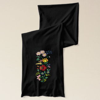 Flower Embroidery vector graphic Scarf