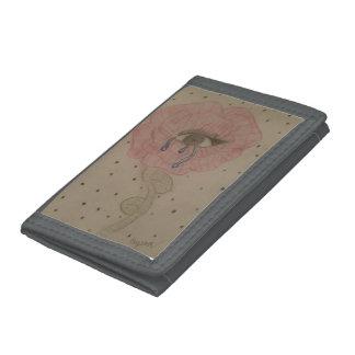 Flower Eye Tri-fold Wallet