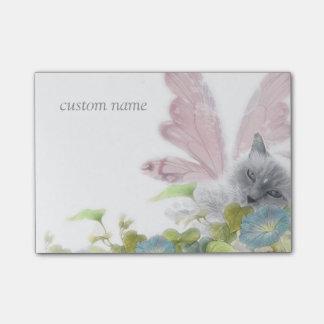 flower faerie cat purrfect fantasy post-it notes