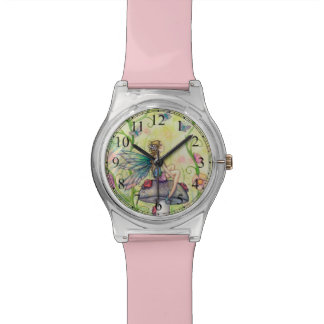 Flower Fairy and Butterfly Faerie Fantasy Art Watch