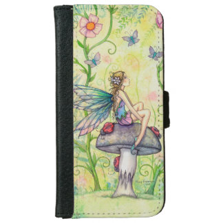 Flower Fairy Fantasy Art Illustration iPhone 6 Wallet Case