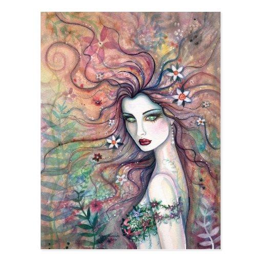Flower Fairy Goddess Chloris Postcard